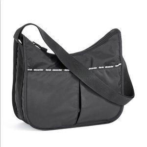 Derek Alexander Black Nylon Crossbody Bag